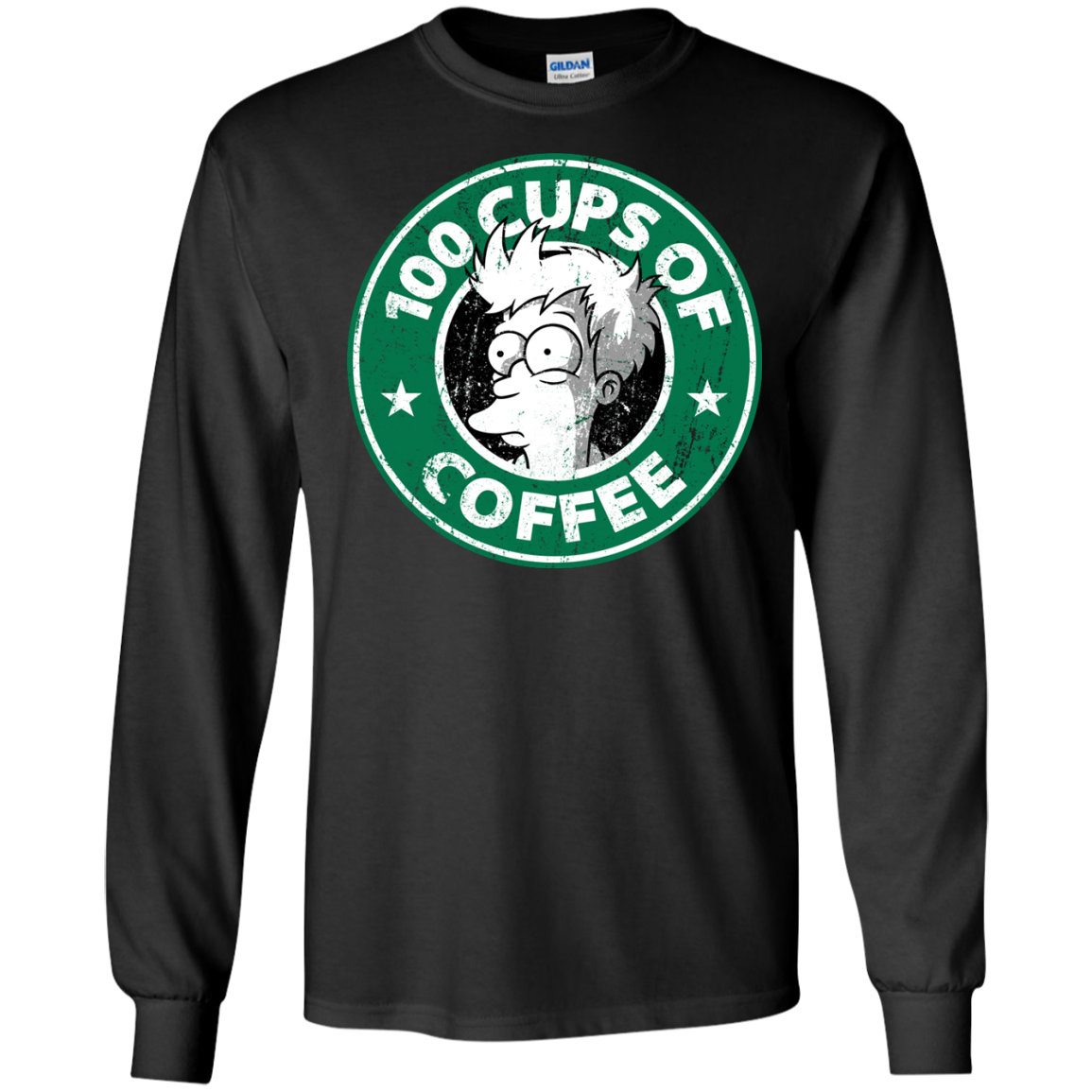 100 Cups Of Coffee T-Shirt Long Sleeve 240