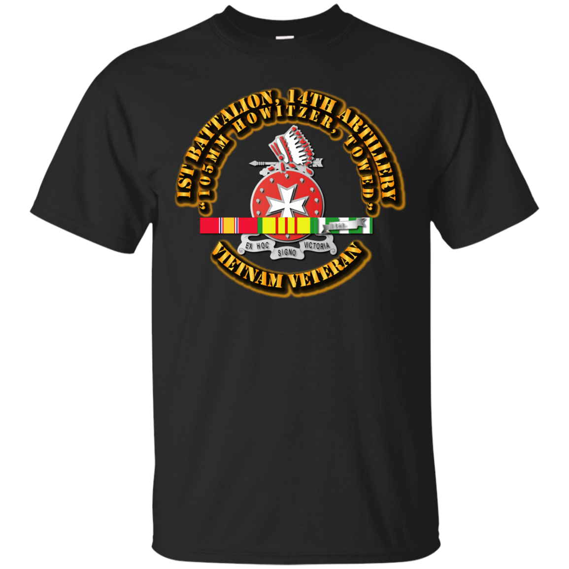 14th Artillery Regiment with Vietnam Service Ribbons T-Shirt Men