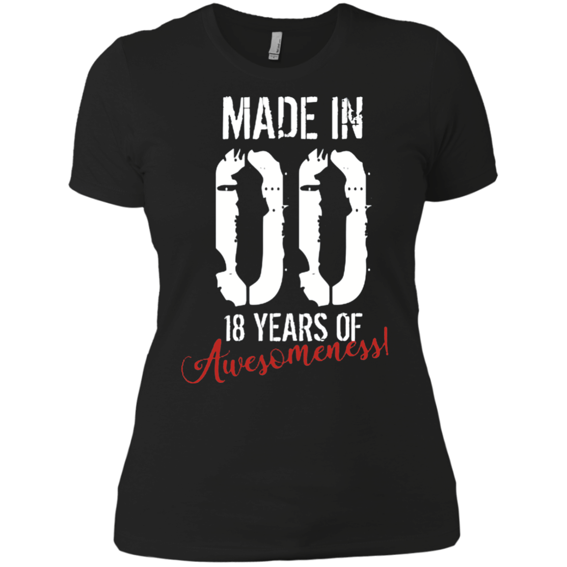 18 Year Old Birthday Gift Shirt Awesome 18th Birthday Gift Ladies Boyfriend Shirt Men Alottee