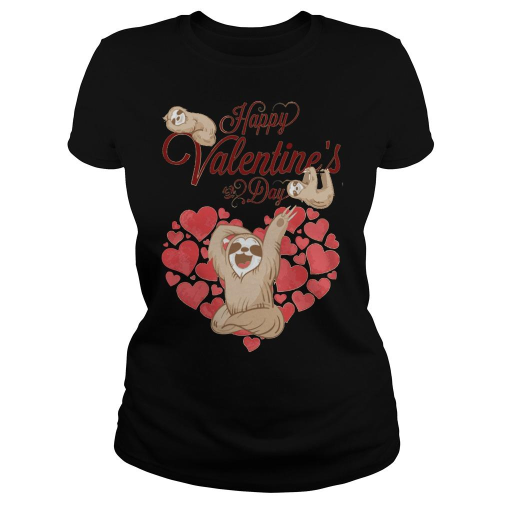 2018 Happy valentines day sloth shirt Women