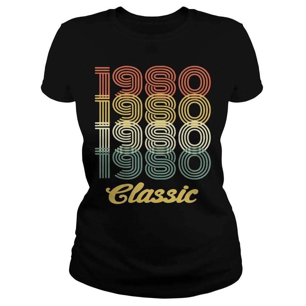 38th birthday vintage 1980 classic shirt Women