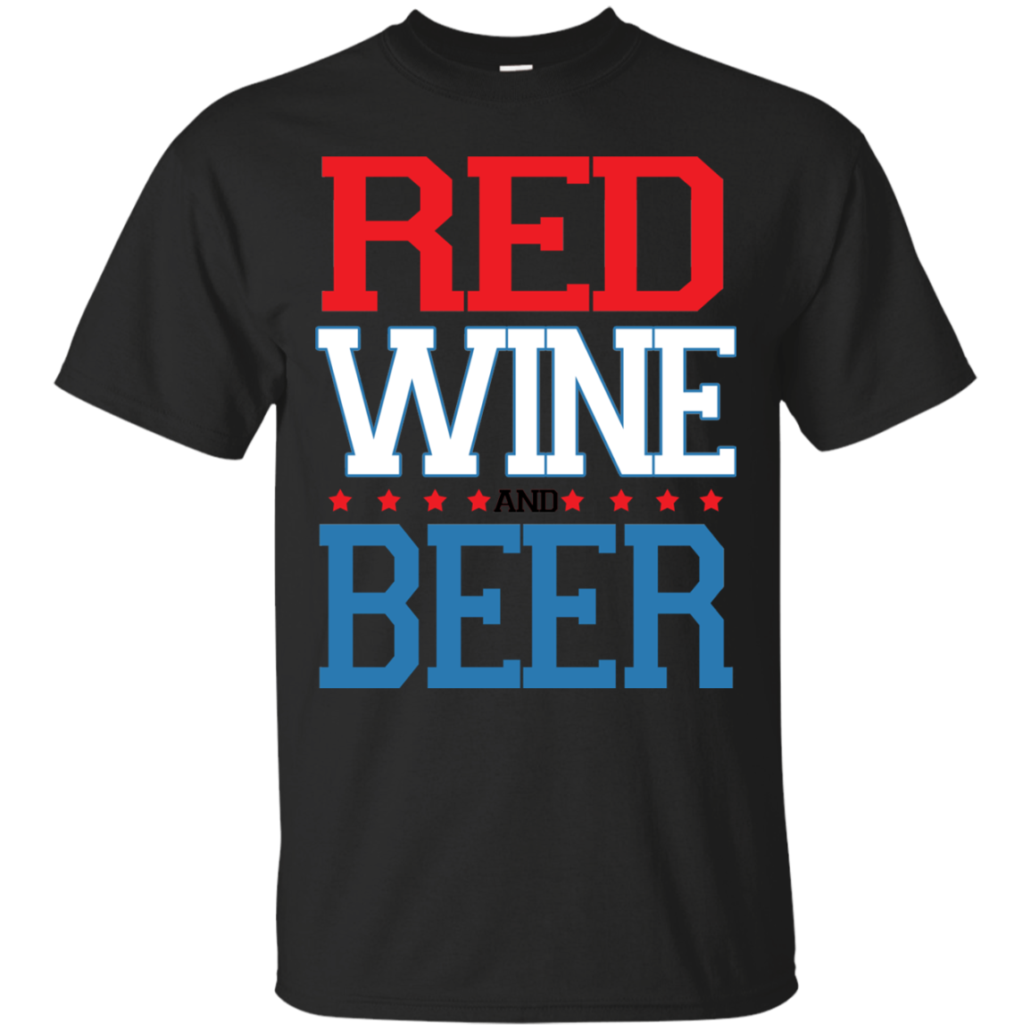 4th of July Shirt - Red Wine and Beer T-shirt Men