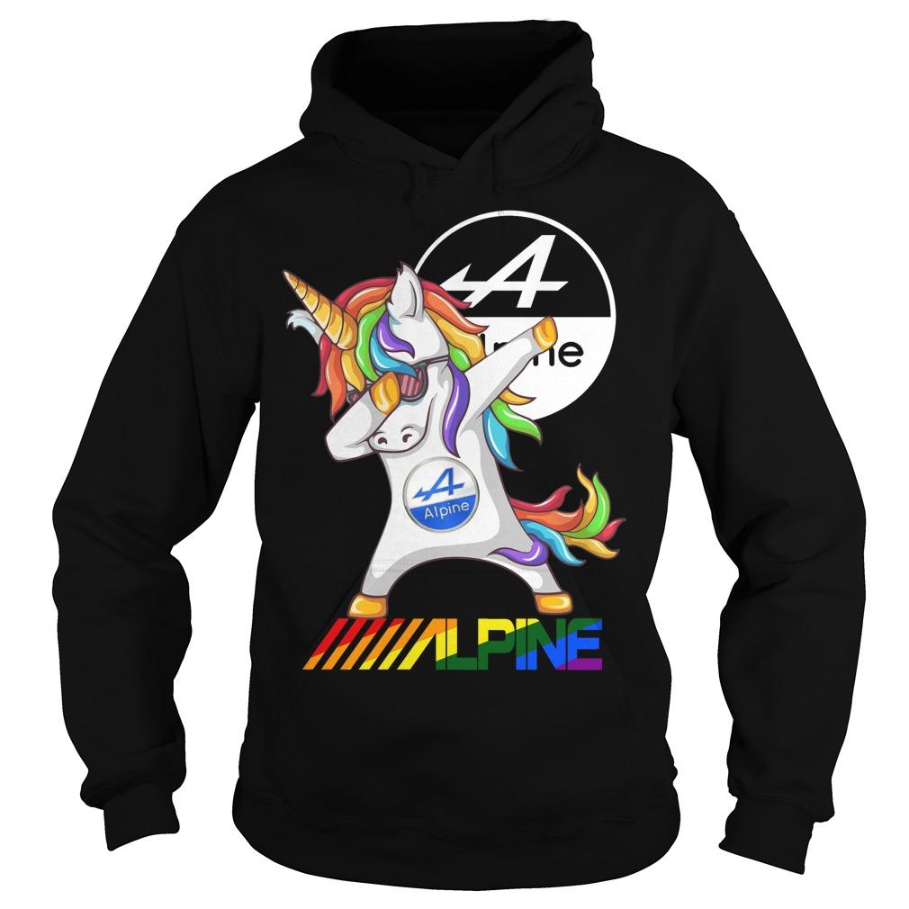 Alpine Electronics Unicorn Dabbing shirt Hoodie