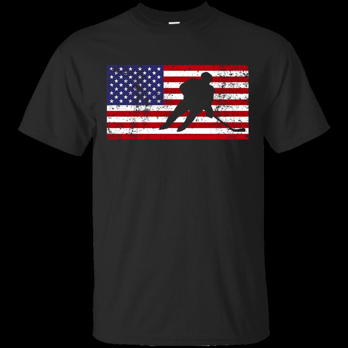 American Flag Hockey Patriotic Ice Skating Cool T shirt hoodie sweater Men