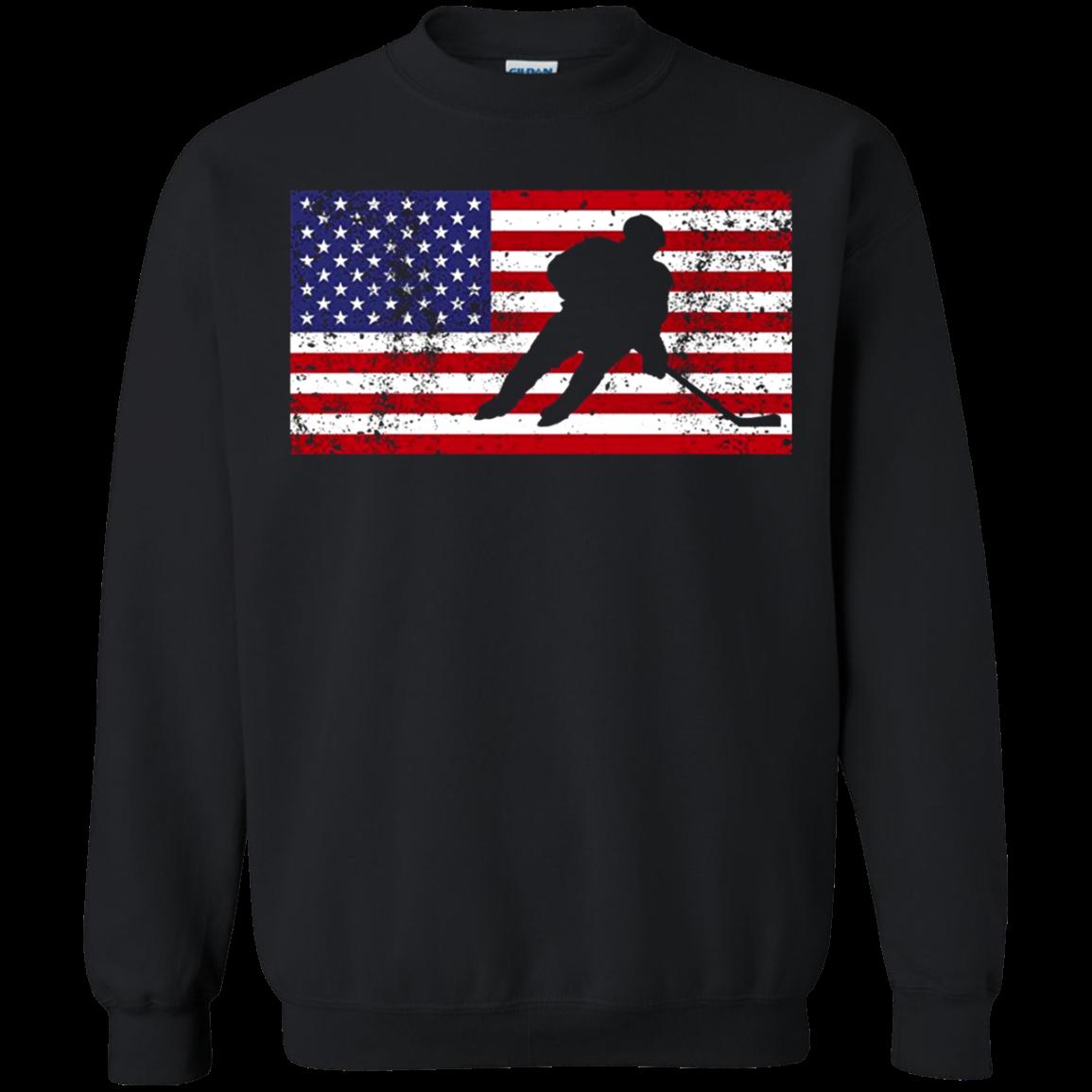 American Flag Hockey Patriotic Ice Skating Cool T shirt hoodie sweater SweatShirt