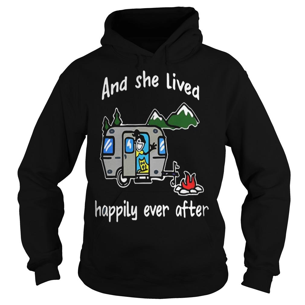 And she lived happily ever after camping shirt Hoodie