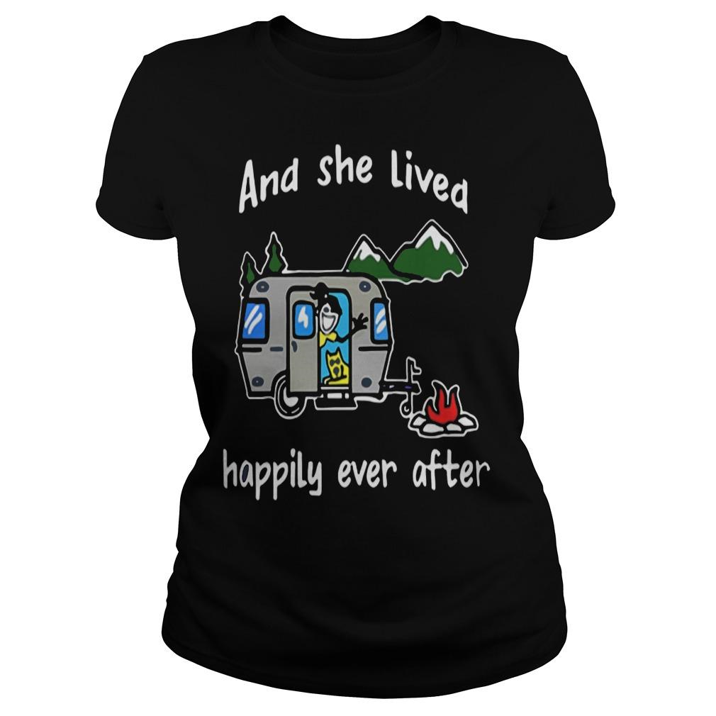 And she lived happily ever after camping shirt Women
