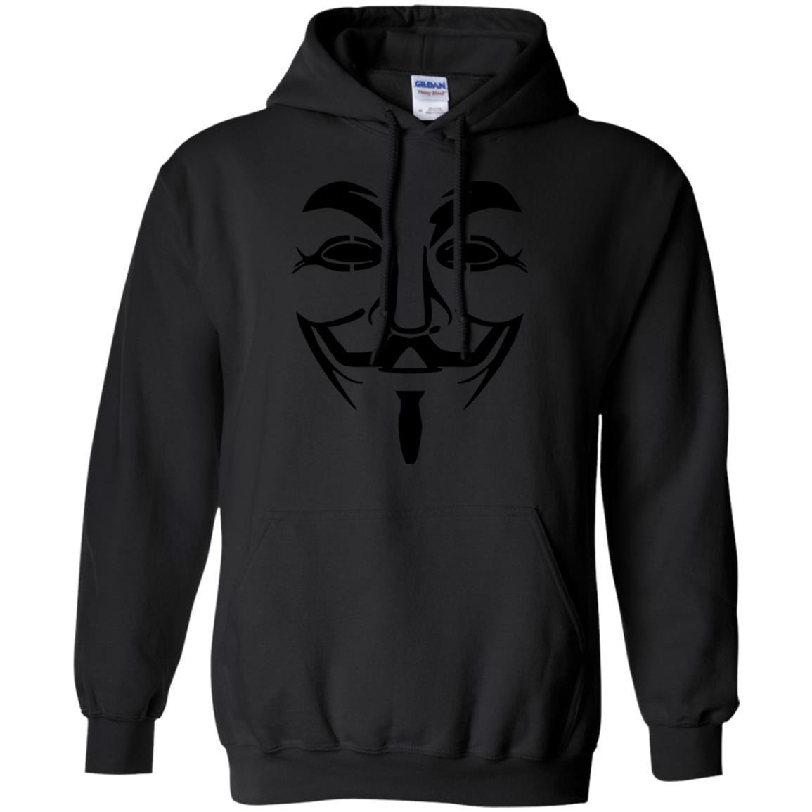Anonymous Face Mask Logo Black Hat Hackers T-Shirt Hoodie