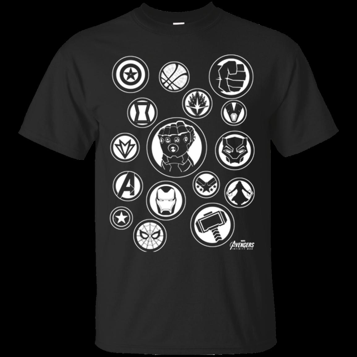 Avengers Infinity War Hero Icon Cotton T Shirt Men