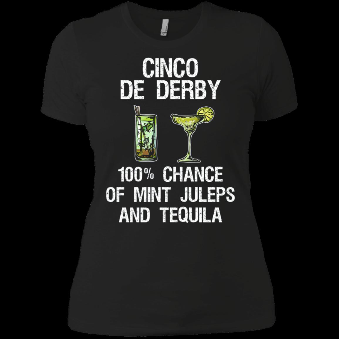 Cinco de Derby - Funny Kentucky Drink Shirt Ladies' Boyfriend shirt Men