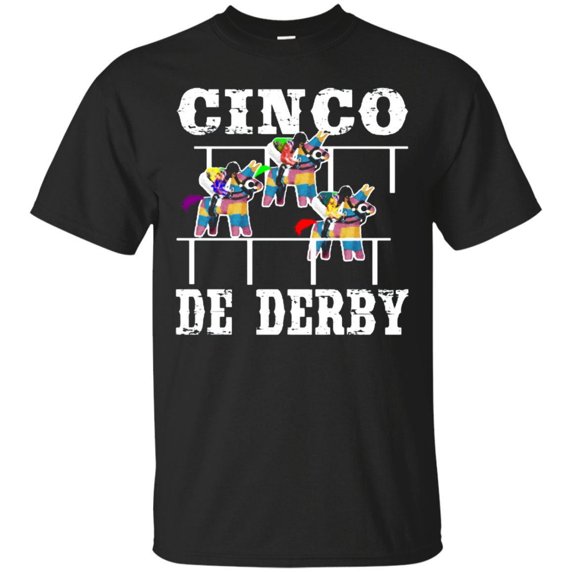 Cinco De Derby De Mayo Kentucky Horse Race Mexican shirt Cotton t shirt Men