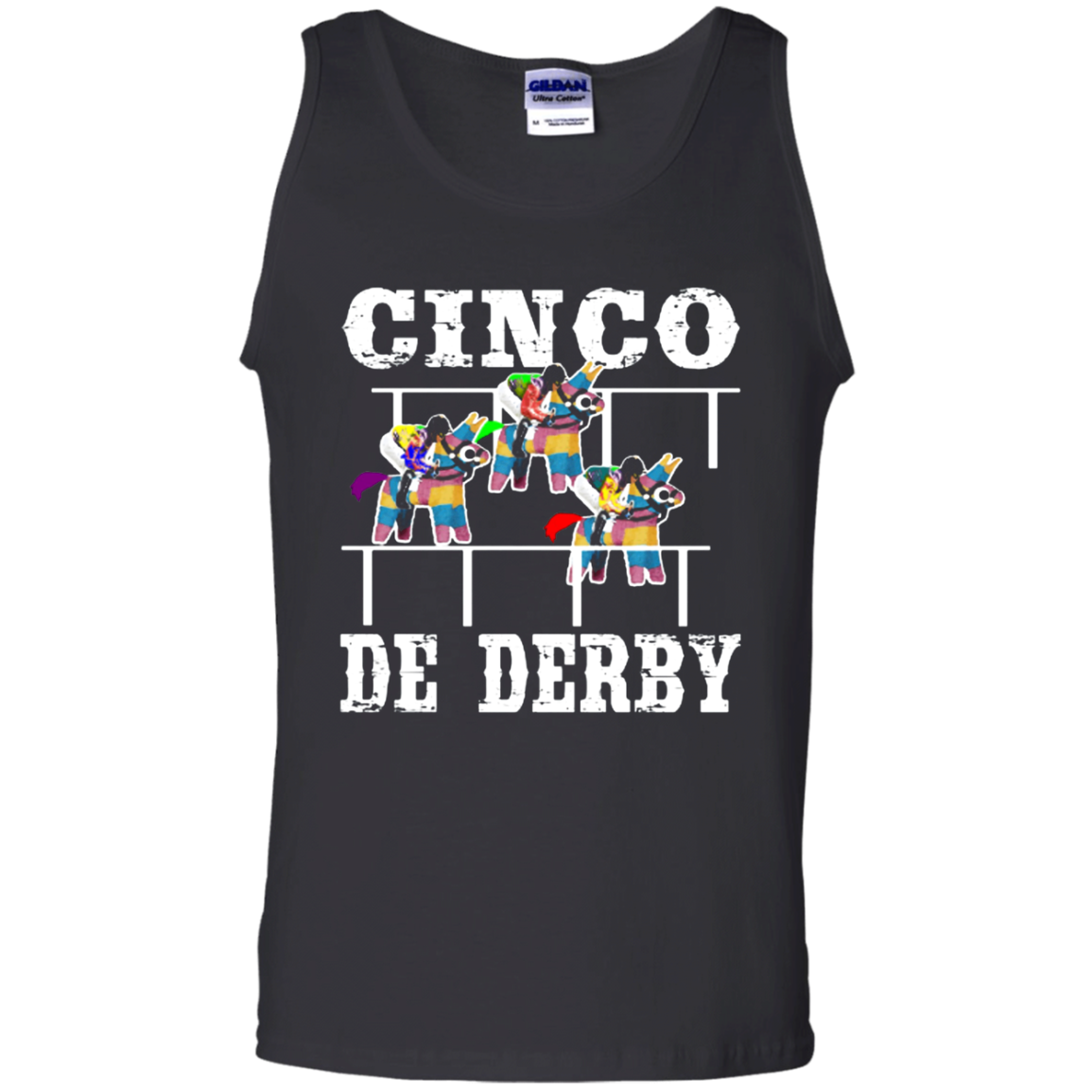Cinco De Derby De Mayo Kentucky Horse Race Mexican shirt Cotton Tank Top Men