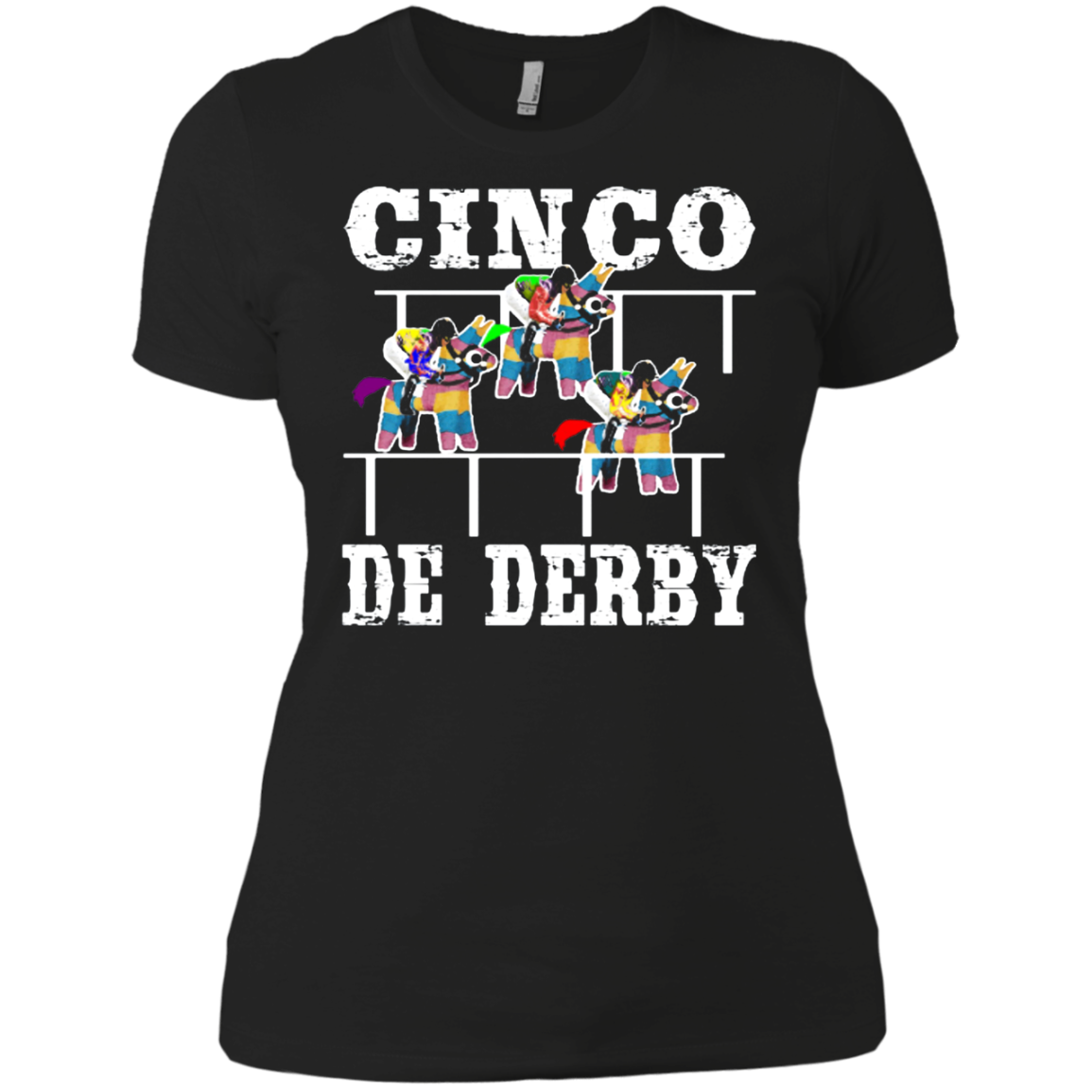 Cinco De Derby De Mayo Kentucky Horse Race Mexican shirt Ladies' Boyfriend shirt Men