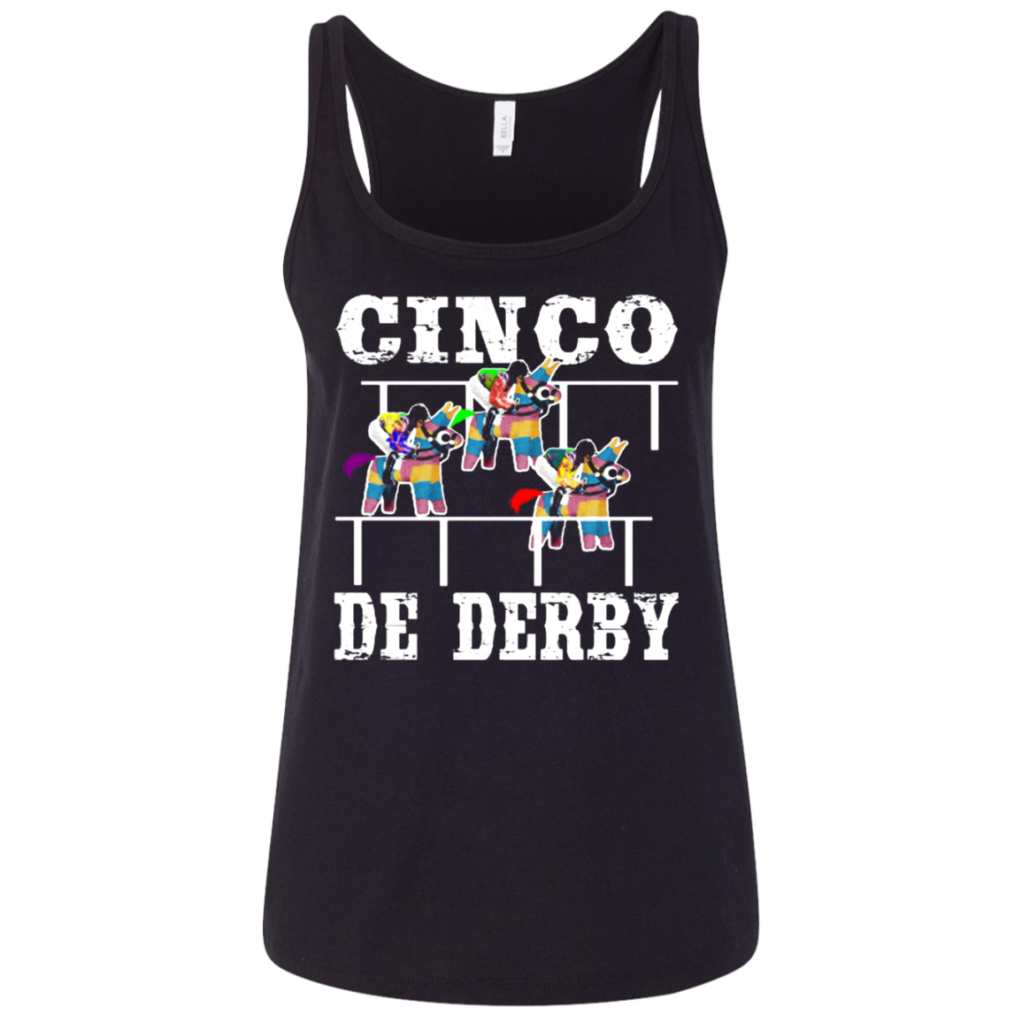 Cinco De Derby De Mayo Kentucky Horse Race Mexican shirt Ladies' Relaxed Jersey Tank Men