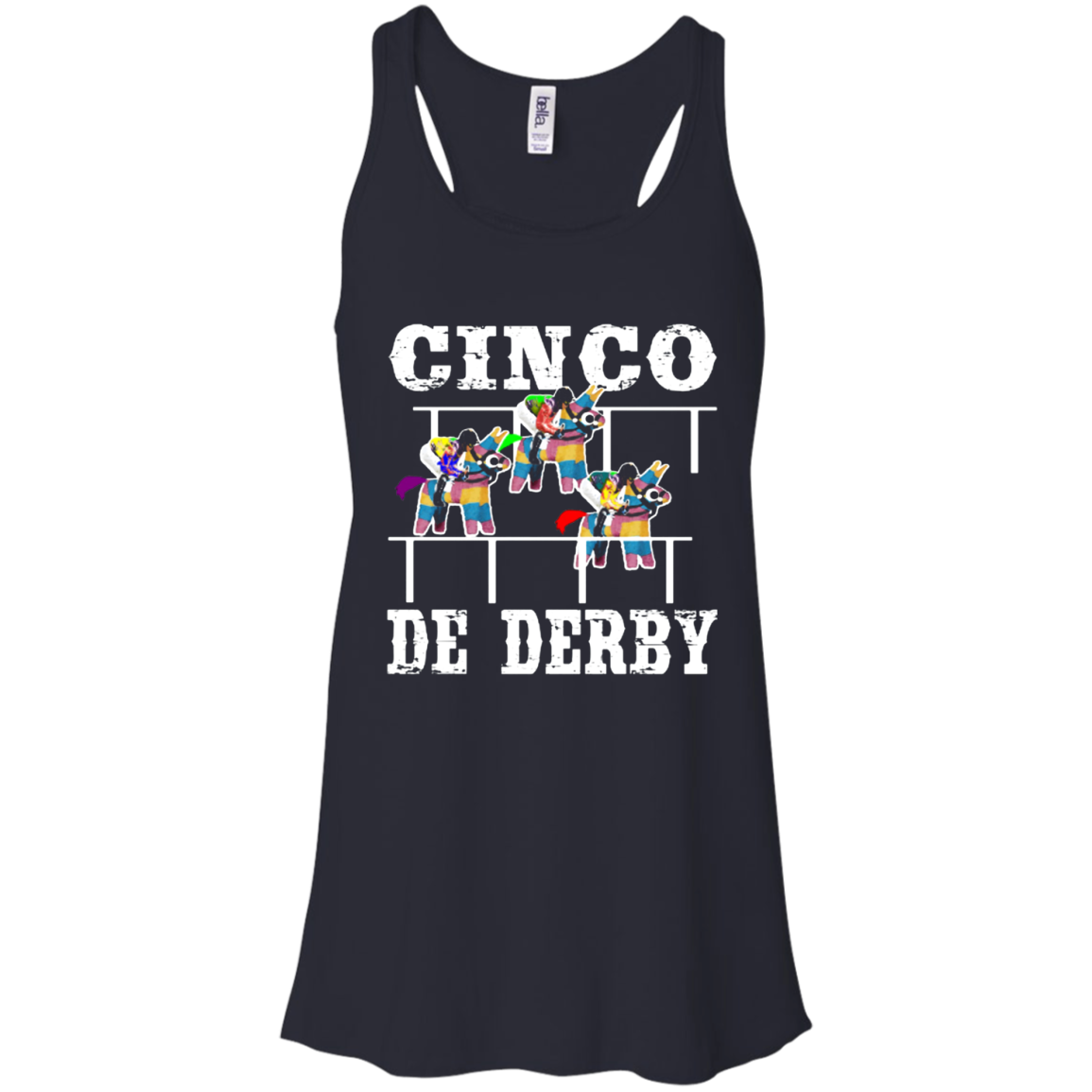 Cinco De Derby De Mayo Kentucky Horse Race Mexican shirt Racerback Tank Men