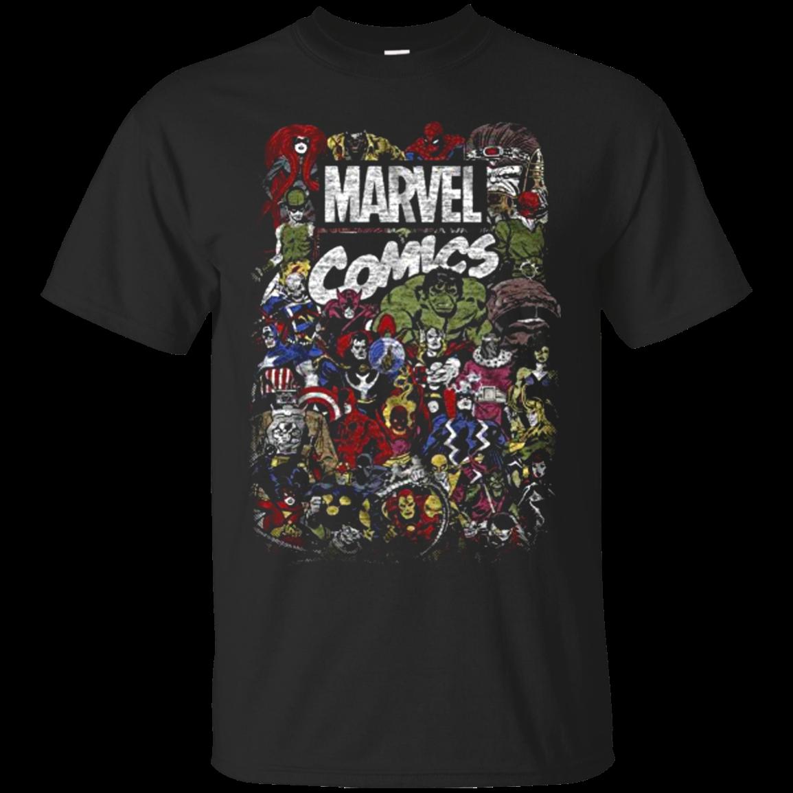 Comics Logo Thor Hulk Iron Man Avengers Spiderman Daredevil Strange Loki Thanos T shirt hoodie sweater Men