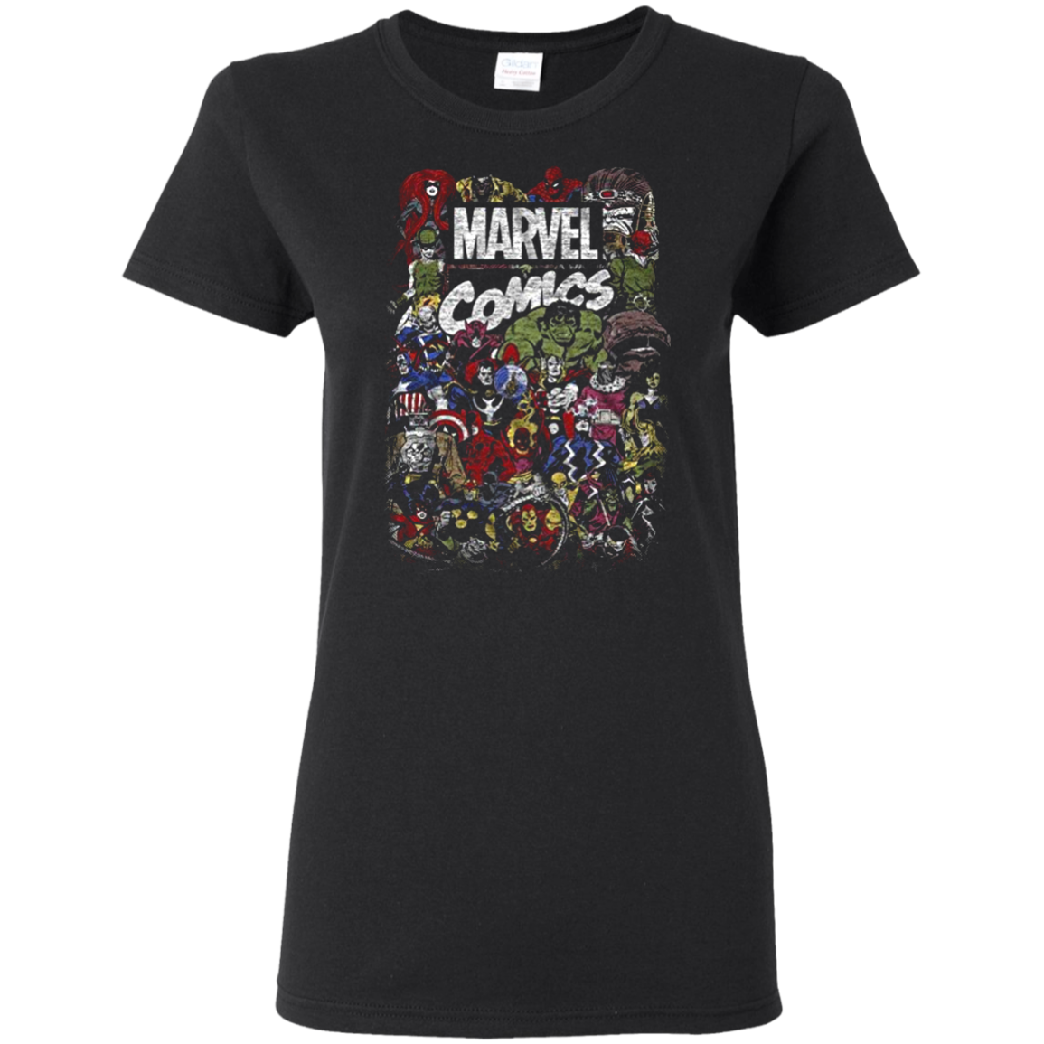 Comics Logo Thor Hulk Iron Man Avengers Spiderman Daredevil Strange Loki Thanos T shirt hoodie sweater Women 5.3