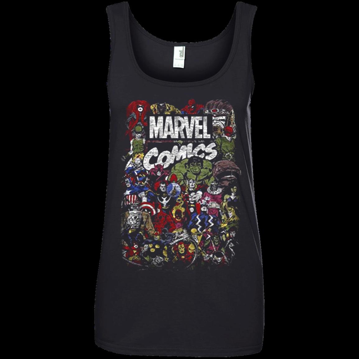 Comics Logo Thor Hulk Iron Man Avengers Spiderman Daredevil Strange Loki Thanos T shirt hoodie sweater Tank Top 882