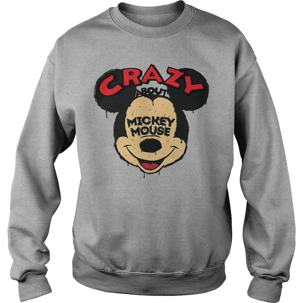 Crazy about Mickey Mouse shirt SweatShirt