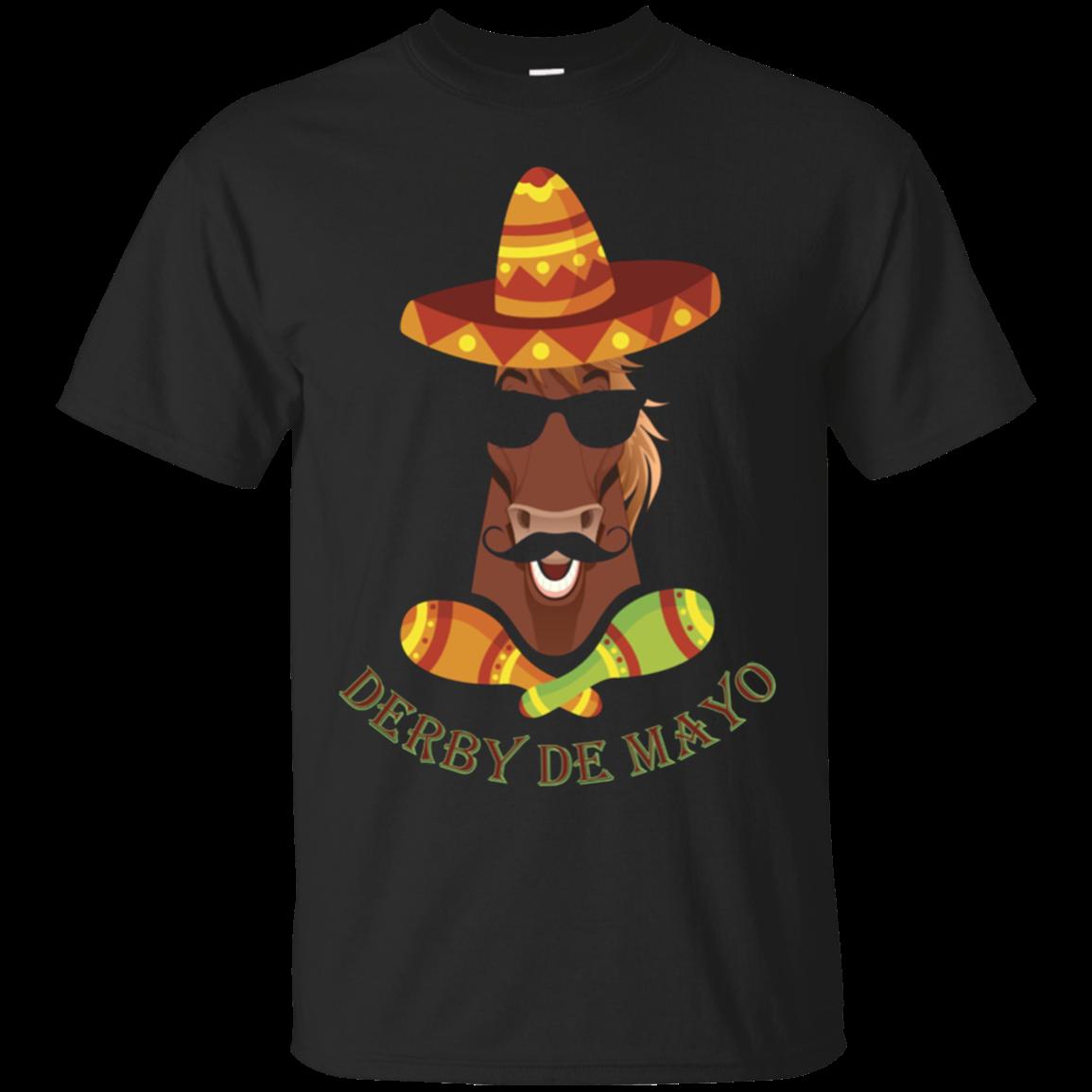 Derby De Mayo Kentucky Horse Race Sombrero Mexican shirt Cotton t shirt Men
