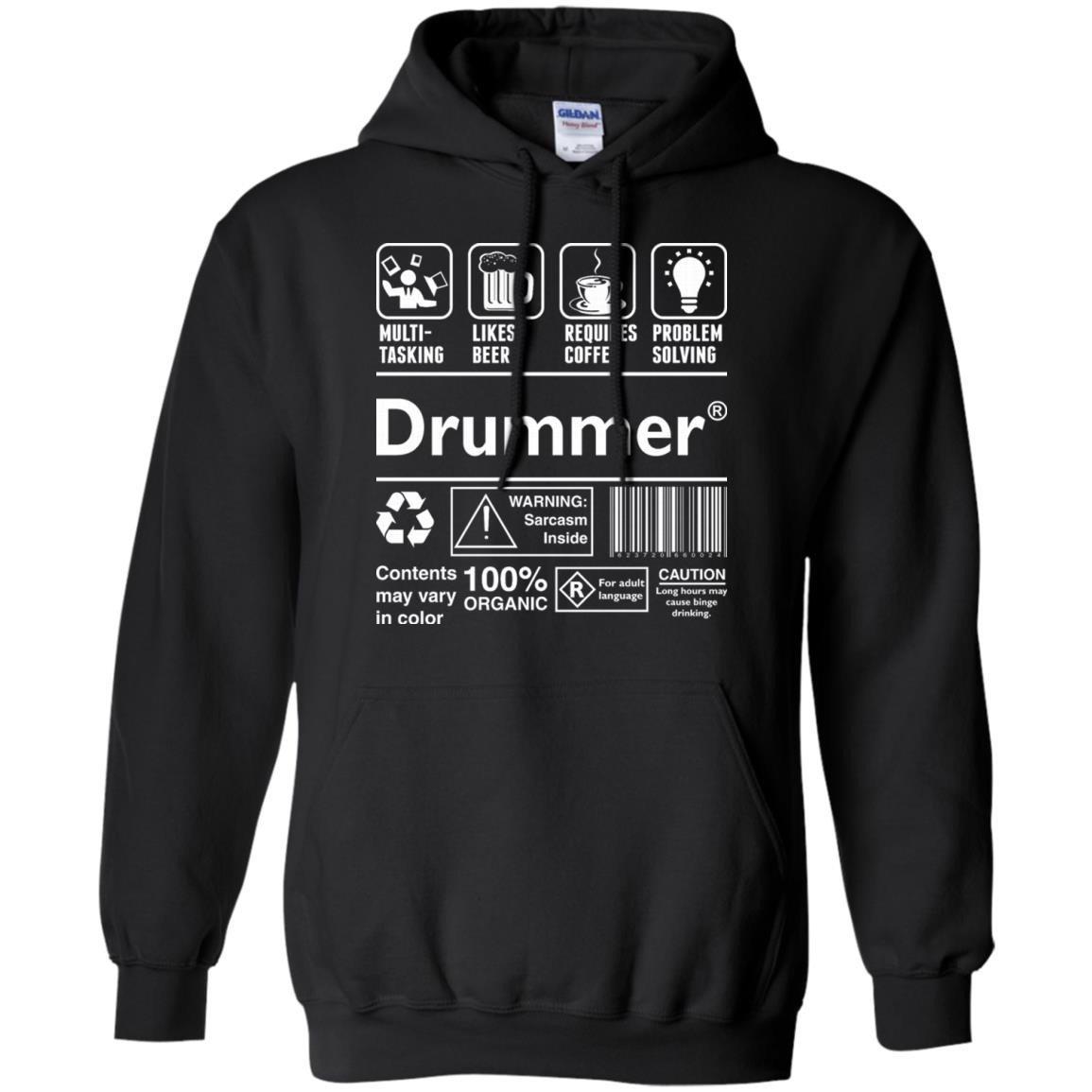 Drummer Multitasking Beer Coffee Problem Solving T-Shirt Hoodie