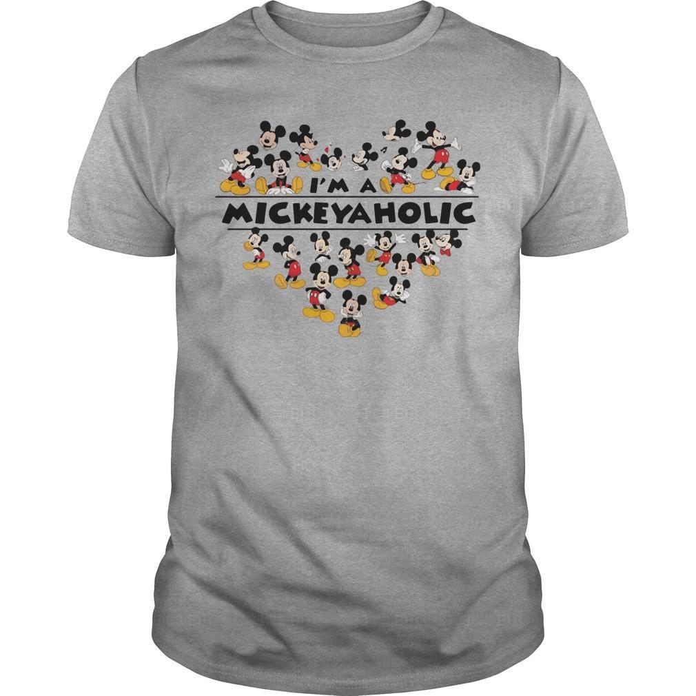 I am a Mickeyaholic ? Mickey Mouse shirt Men