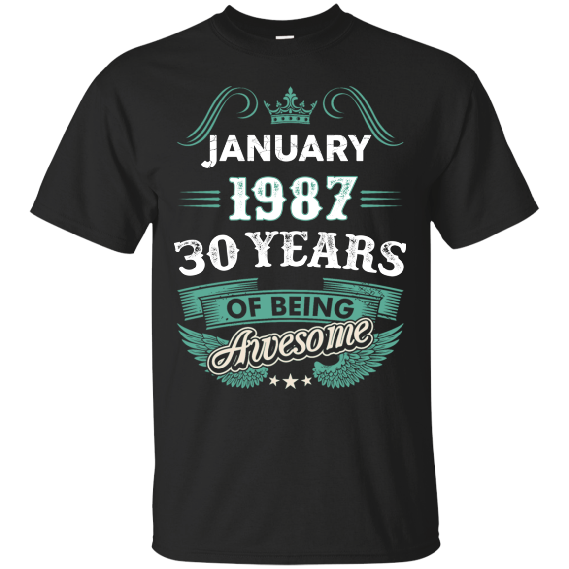 January 1987 30 Years of being Awesome t shirt Men