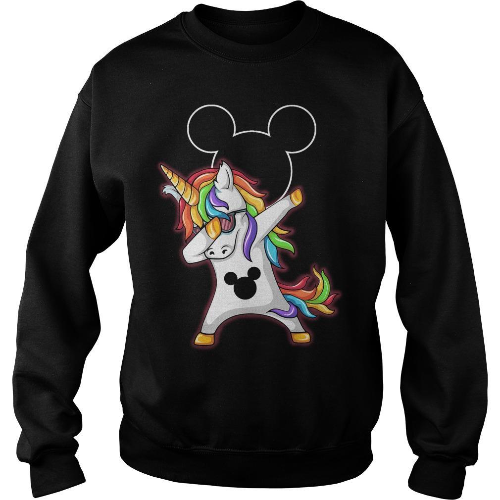 Mickey Unicorn Dabbing shirt SweatShirt