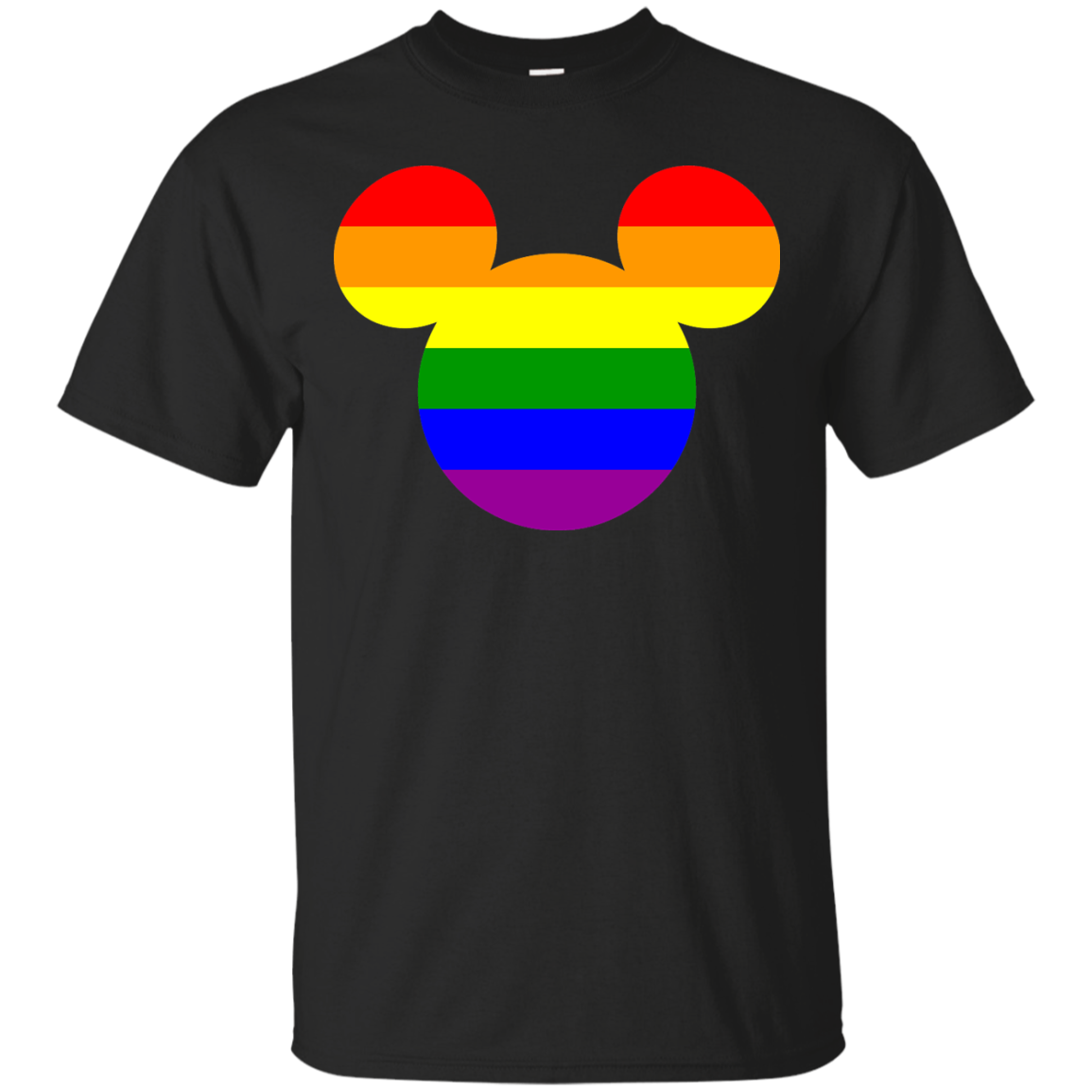 Rainbow Mickey Head T-Shirt Men