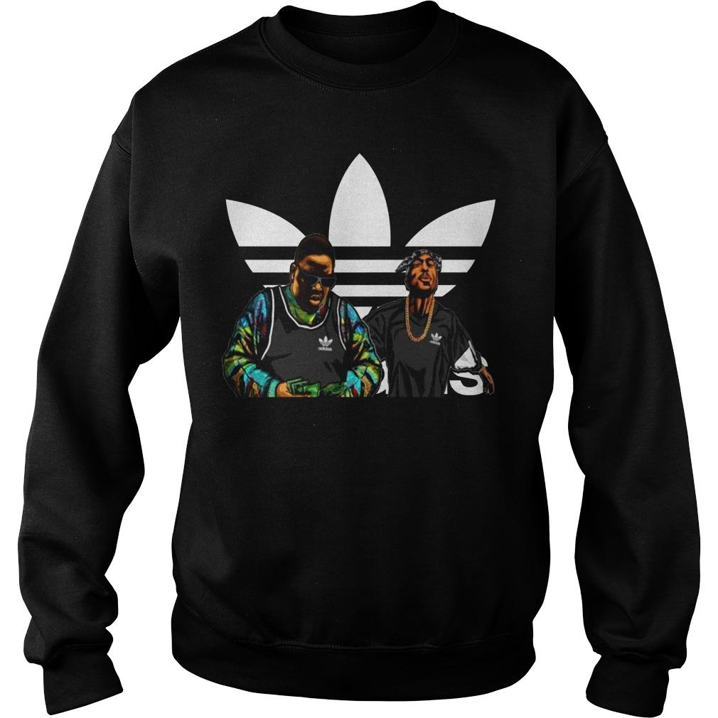 The Tupac and Biggie Murders Adidas logo shirt SweatShirt
