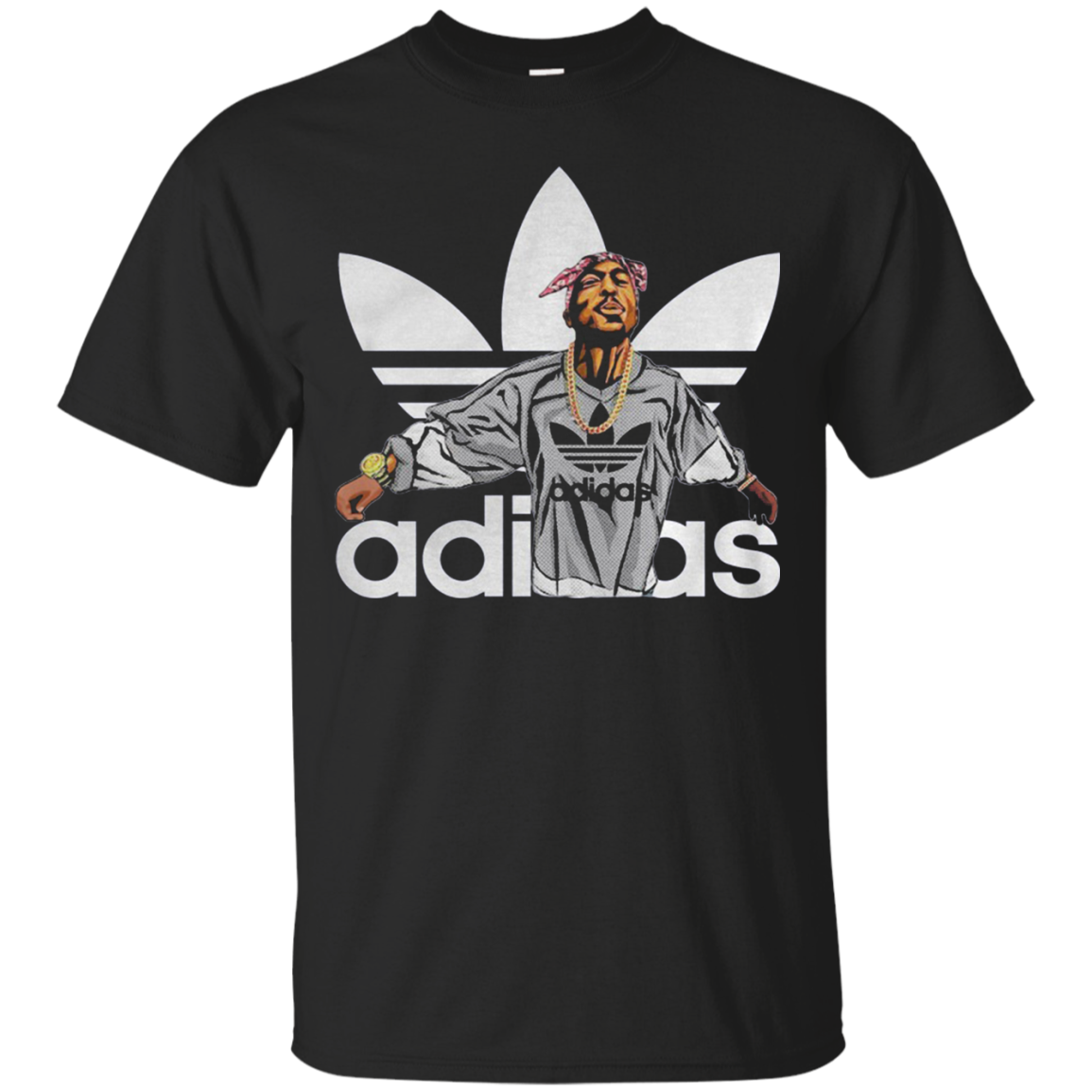 Tupac Shakur Adidas Cotton T Shirt Men