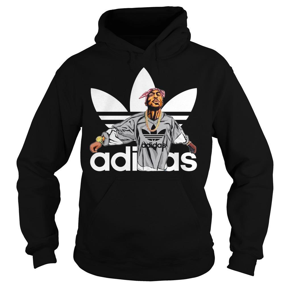 Tupac Shakur Adidas shirt Hoodie