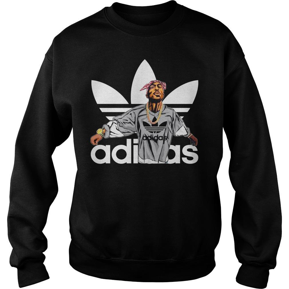 Tupac Shakur Adidas shirt SweatShirt