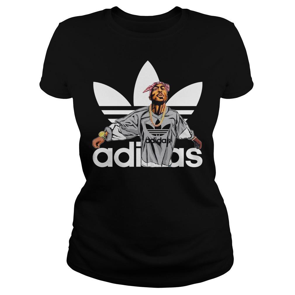 Tupac Shakur Adidas shirt Women