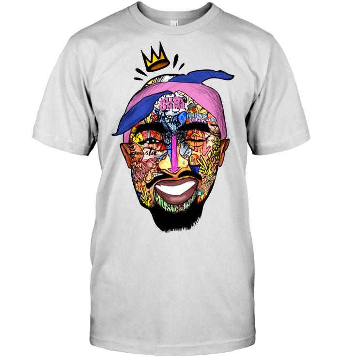 Tupac Shirt - Tupac Shakur Face Hanes Tagless Tee