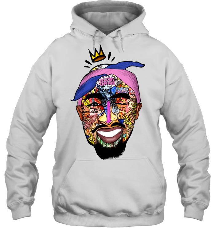 Tupac Shirt - Tupac Shakur Face Heavy Blend Hoodie