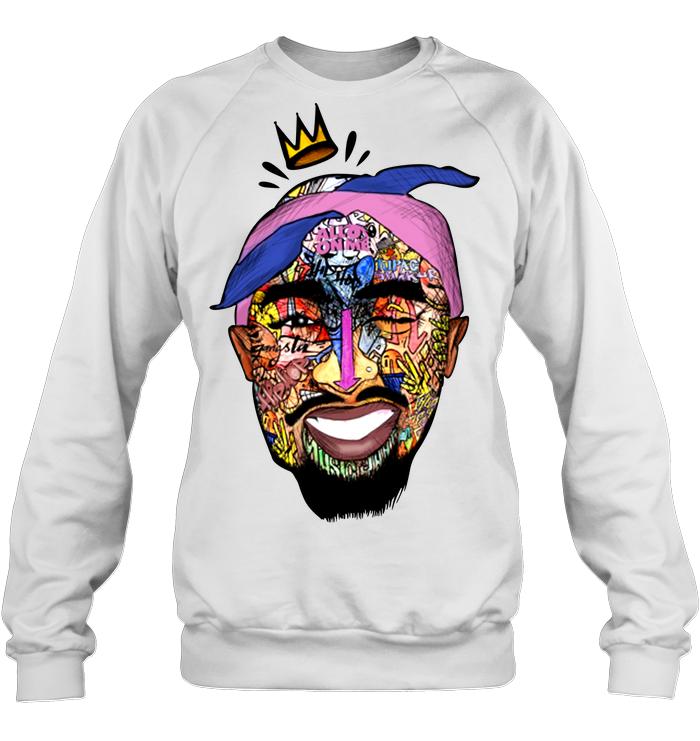 Tupac Shirt - Tupac Shakur Face Sweatshirt Hanes