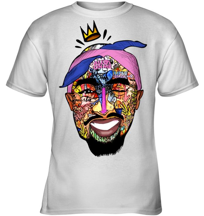 Tupac Shirt - Tupac Shakur Face Kids Tee