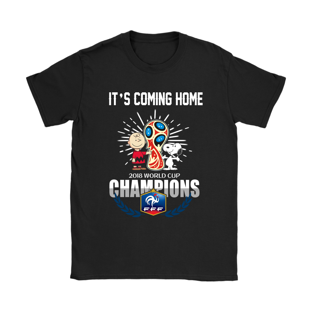 2018 France World Cup Champions It's Coming Home Snoopy Shirt Women