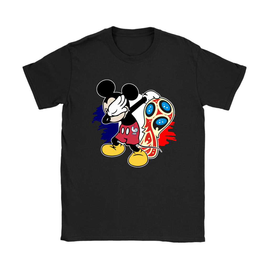 2018 France World Cup Champions Mickey Dabbing Shirts Women