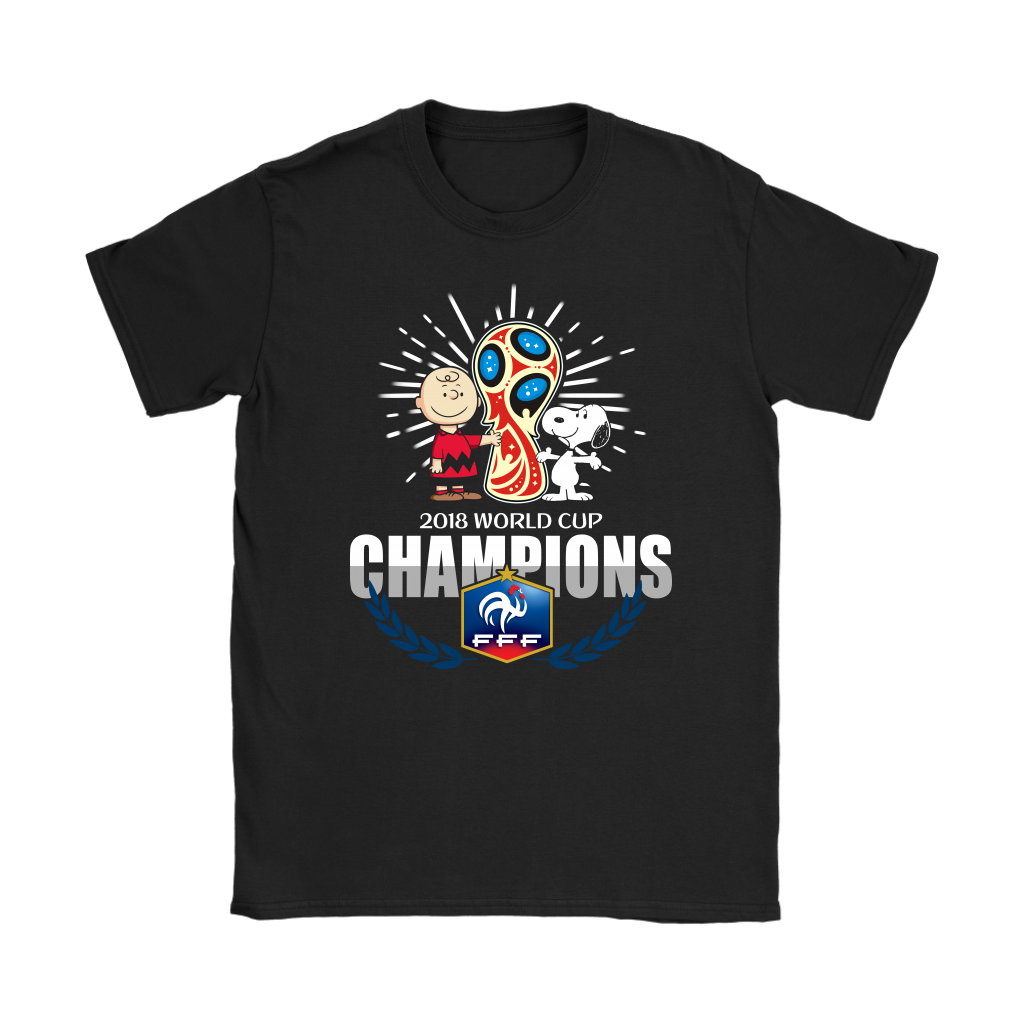 2018 France World Cup Champions Snoopy Shirt Women