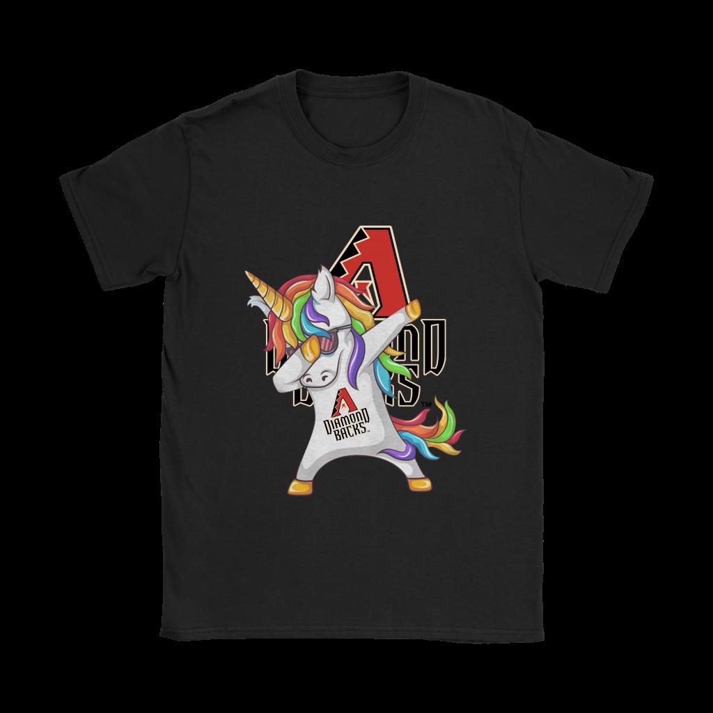 Arizona Diamondbacks Unicorn Dabbing Baseball Sports Shirts Women