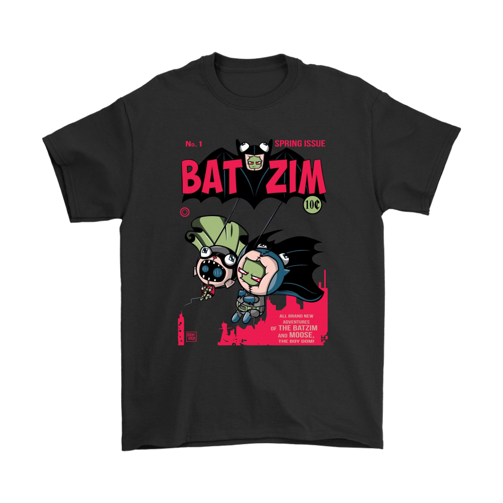 Comic Con - BatZim Exclusive 90s Kid Batman And Invader Zim Meet Up In This Design Shirts