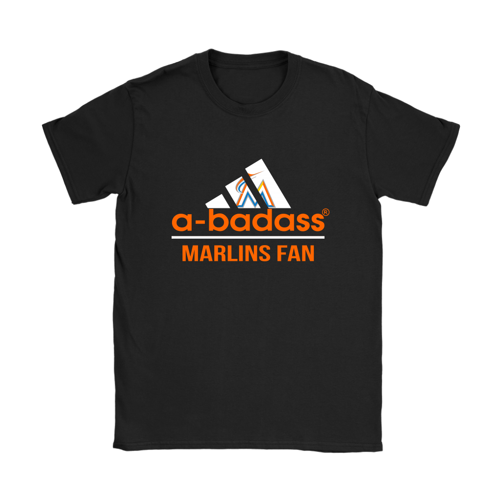 Miami Marlins  A Badass Baseball Sports Shirts Women